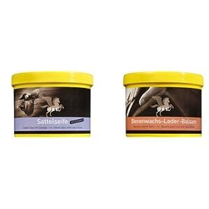 Lederseife 250 ml + Bienenwachs Lederpflege Balsam, 500 ml