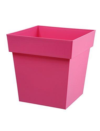 Pot carré rose Toscane Pop 38L avec soucoupe