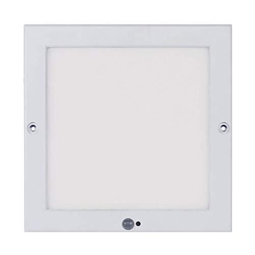 Xing ruiying LED Deckenleuchte mit Bewegungsmelder innen warmweiß, 18W 1300LM, mit Dämmerungssensor 22*22cm