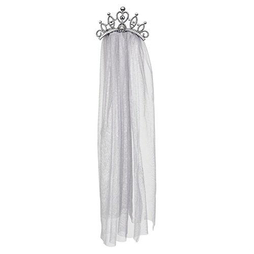 Halloweenia - Halloween Kostüm Zombie Prinzessin- Braut Krone mit Schleier Erwachsenen Kopfbedeckung, Mehrfarbig