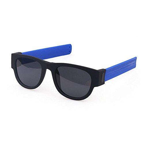 xinzhi Radfahren Brille, Strand Brille Sport Sonnenbrillen Fahrrad Brille Angeln Brille Spiegel Spiegel Beine für Outdoor-Sport - blau