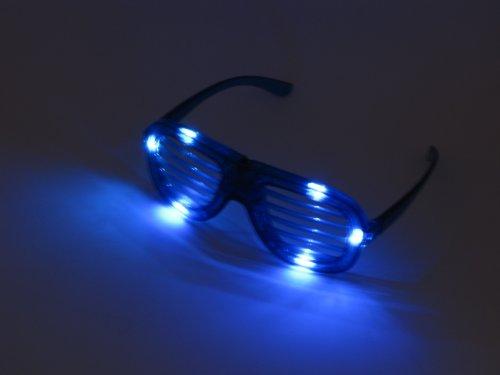 Partybrille Spaßbrille Atzen Brille in blau Shutter Shades Glasses (Shutter Shade Brille)