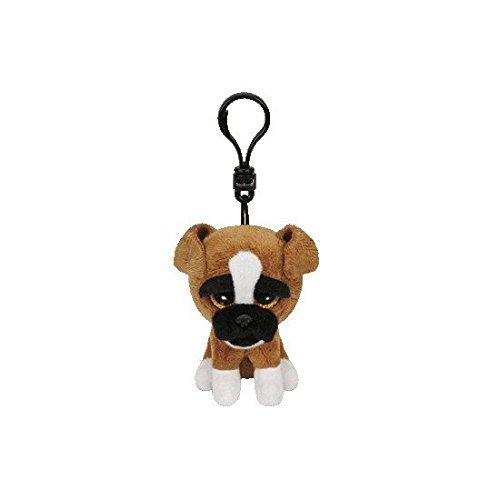Brutus Clip Boxer mit Glitzeraugen Glubschi's Beanie Boo's, Hund, 8.5 cm (Beanie Boo Hund)