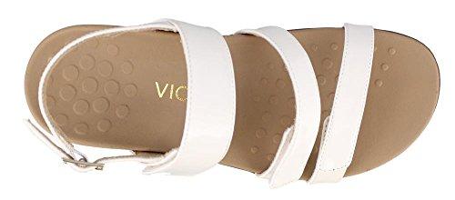 Vionic Womens Teagan Open Toe Casual Slingback Sandals White Patent