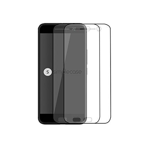 Simplecase Panzerglas passend zu HTC one M10 , Premium Bildschirmschutz , Schutz durch Extra Härtegrad 9H , Case Friendly , Echtglas / Verb&glas / Panzerglasfolie , Transparent - 2 Stück