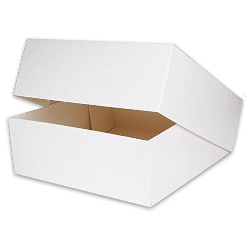 50 Tortenkartons Tortenschachteln 32x32x11cm weiß, Verpackung für Torten, Kuchen, Cupcakes Box,...