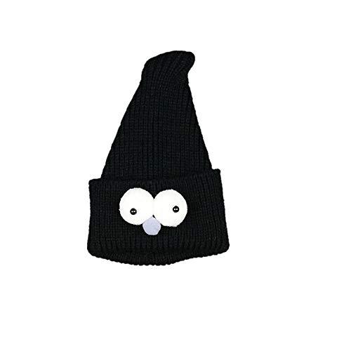 Easy Go Shopping Bonnet tricoté pour bébé Chaud pour garçon (Couleur : Noir)