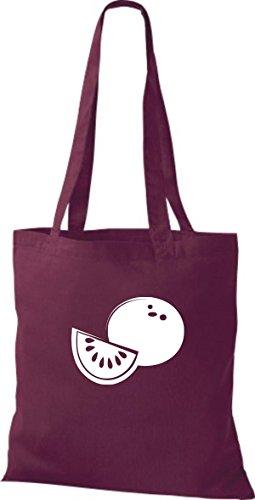 T-shirt Di Stoffa Di Cotone Tinta Unita La Tua Frutta E Verdura Preferita Miele Melone Colore Rosa Vino Rosso