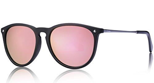 Carfia Vintage Polarisierte Damen Sonnenbrille Fahrer Brille 100% UV400 Schutz für Autofahren Reisen Golf Party und Freizeit - Ultraleicht Rahmen (Pink) (In Pink Sicherheits-brille)
