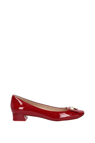 Pumps Tory Burch Damen Lackleder Rot und Gold 31435REDSTONE Rot 39EU