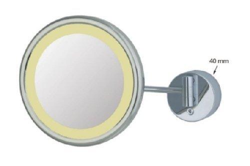 Frasco Kosmetikspiegel led 23cm einarmig 3-fach Vergrößerung Chrom, 99K8Hx70