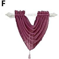 XuBa - Cortina translúcida de Color sólido para Sala de Estar, ...