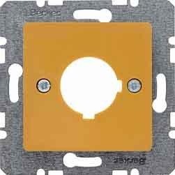 Berker Zentralplatte ge 143207 f.Melde-/Befehlsger. B.1;B.3;B.7;K.1;S.1 Einsatz/Abdeckung für Kommunikationstechnik 4011334272304 (Ge-licht-schalter)