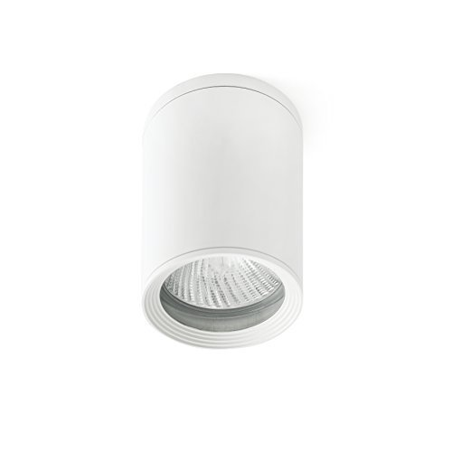 Plafón moderno para exterior. Esta lámpara es una buena opción para iluminar balcones y terrazas.