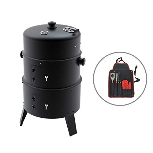 KCT Upright BBQ Smoker - HS016 with Tool Set