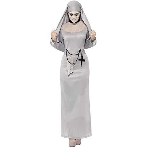Katholische Nonne Kostüm - Fashion-Cos1 Horror Zombie Silber Arabische Kleidung Sexy Katholischer Mönch Cosplay Kleid Halloween Kostüme Nonne Kostüm