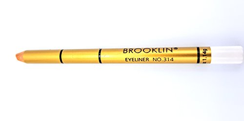 Brooklin - Lápiz de ojos Color Blanco Nº314 duradero resistente al agua