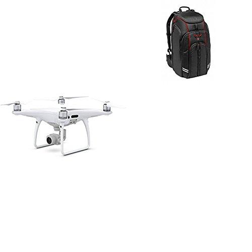 "DJI Phantom 4 Pro - Dron cuadricóptero ( 4 K/60 fps, bitrate de 100 mbps, 20 mpx, sensor xrmor de 1"", 72 km/h, 30 minutos) color blanco + Manfrotto MFMBBP-D1 - Mochila para drones DJI"
