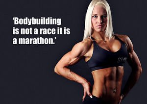bodybuilding 4-woman-not a race-motivational-fitness-Muskel-A3