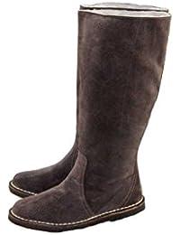 chix - Botas Efecto Arrugado niña mujer , color marrón, talla 38.5