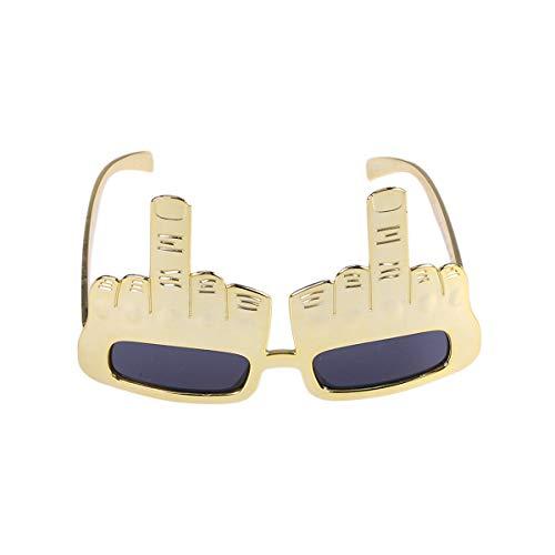YeahiBaby Lustige Tanzparty-Verfassungs-Glas-Brillen für Maskerade-Partei (golden)