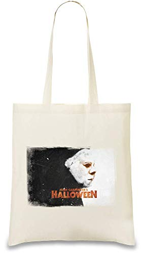 Halloween Film Killer Maske - Halloween Movie Killer Mask Custom Printed Tote Bag| 100% Soft Cotton| Natural Color & Eco-Friendly| Unique, Re-Usable & Stylish Handbag For Every Day Use| Custom