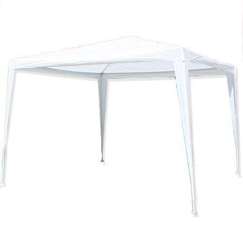 Partypavillon Partyzelt Sonnenschutz Regenschutz, 3x3m Weiß