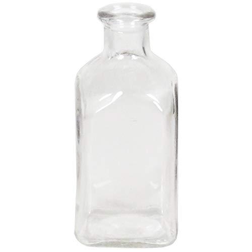 H 11 cm für die Tischdeko - Blumenvase - Glasvasen - Tischvasen - Dekoflaschen - Deko-Glas-Vintage ()