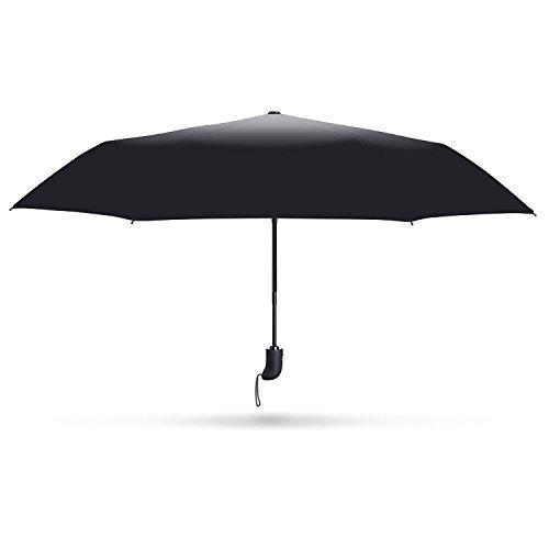 """Gracetop Ombrello Automatico, 210T Fabric /Ombrello Pieghevole/Ombrello Viaggio Antivento """"Infrangibile"""" Sturdy(Nero)"""