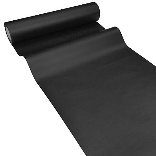 JUNOPAX 29217873 Papiertischläufer 50m x 0,40m schwarz nass- und wischfest