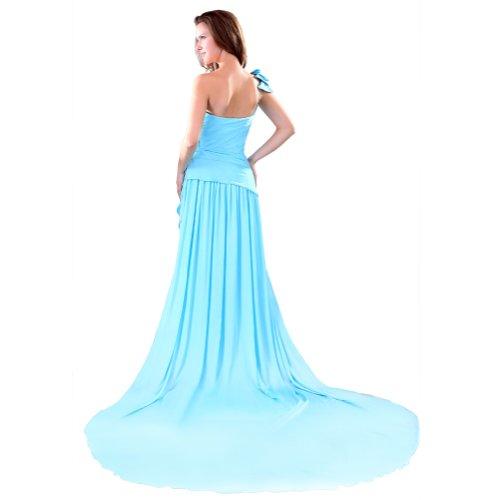 Sunvary da una linea Uno Chiffon spalla, per abiti da sera Blu