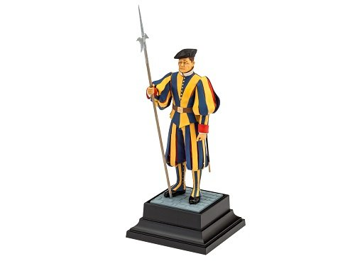 Revell Modellbausatz Figuren 1:16 - Schweizer Garde Vatikanstaat / Vatican Swiss Guard im Maßstab 1:16, Level 3, originalgetreue Nachbildung mit vielen Details, 02801 - Vatikan-modell