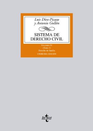 Sistema de derecho civil: volumen iv (tomo 1) derecho de familia: 4 (derecho - biblioteca universitaria de editorial tecnos) Descarga gratuito EPUB