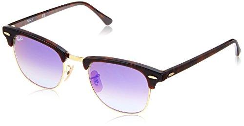 Ray-Ban Herren Sonnenbrille Rb 3016, Mehrfarbig (Gestell: rot (Havana),Gläser: blauverlauf 990/7Q), Small (Herstellergröße: 49)