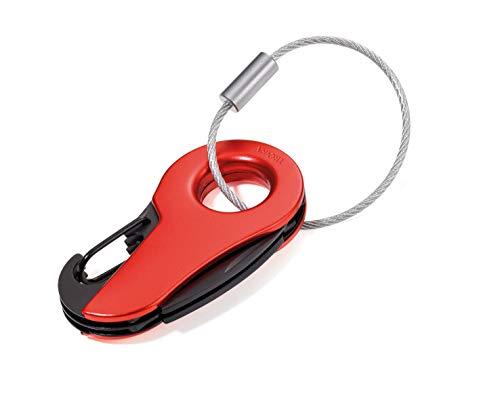 TOOLBERT MINI-WERKZEUG - KTL01/RD - rot - klein und handlich - 6 Funktionen - Schlüsselanhänger - Taschenmesser - Schraubendreher - Nagelfeile - Karabinerhaken - das ORIGINAL von TROIKA