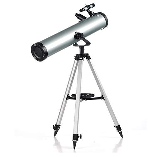 Telescopio óptico para Principiantes y niños 76/700 mm + trípode de Montaje Ocular diverso Visor Lente Barlow