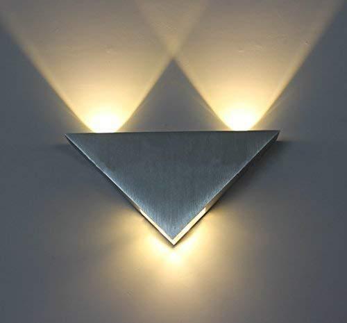 Warmcasa Apliques de Pared Interior LED Diseño Moderno 3W Lámpara Aluminio de...