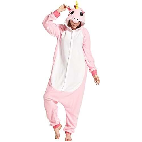 pijama de unicornio kawaii Hstyle Unisex Adulto Onesie Anime Kigurumi Trajes Disfraz Cosplay Animales Pijamas Pyjamas Ropa De Dormir