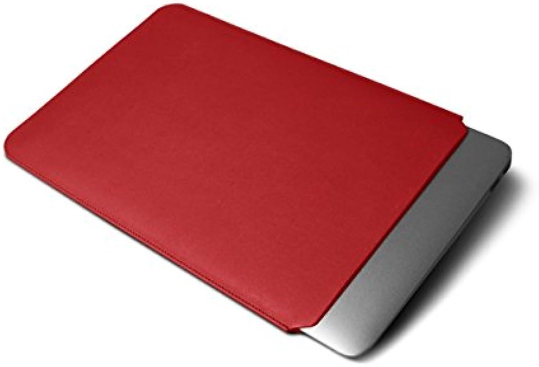 Lucrin - Fodero di custodia per MacBook Air 13 inch Retina Display - Vacchetta liscia - Rosso -