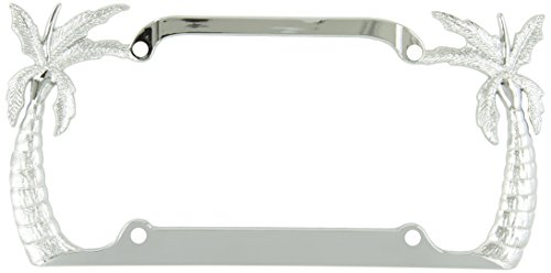 Bully WL104-C Palm Tree License Plate Frame - Chrome by Bully