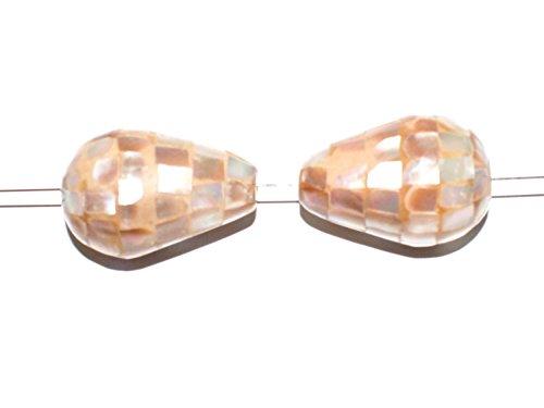 n Seeopal Muschel Perlmutt Perlen Mosaik-Tropfen #MUS1 ()