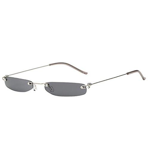Dragon868 Herren/Damen Sonnenbrille Metallic Vintage Transparent Small Frame Sonnenbrille Retro Brillen (B) (Brille Spy Die Kids)