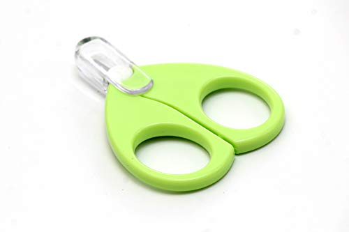 Rikang Baby Safety Scissors With Circular Cutter Head (Color may Vary)