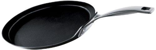 Le Creuset Gehärtete Crêpe-Pfanne mit Antihaftbeschichtung, schwarz, 30 cm