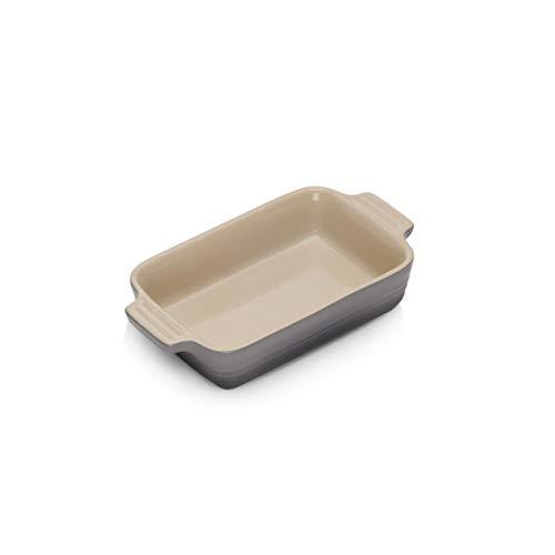 Le Creuset 91004719444000 Bandeja rectangular, Para 2 porciones, Cerámica de gres, Gris Flint
