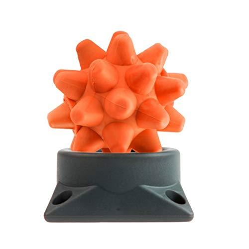 ZML Hedgehog Massage Ball, Massage Hockey manuelle Massage Ball Tiefe Massage Ball Muskel Faszie Entspannung tiefes Gewebe Sportgeräte (Farbe : Orange) -