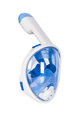 Sendream máscara del Tubo respirador de Cara Completa de respiración para Adultos y jóvenes. máscara de Buceo seco Completo revolucionaria con Anti-vaho y Anti-Fugas Tecnología. (Azul para niños, XS)