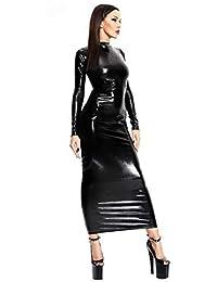 5dadf45aa67c HhGold Sexy Erotisch Latex Bodysuit Kleid Aushöhlen Latex Catsuit Sommer  Lackleder Erotisch Unterwäsche
