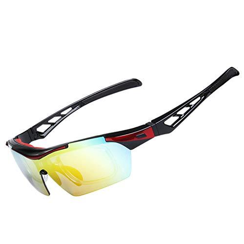 Coniea Nachtsichtbrillen Sonnenbrillen Autofahren PC Sportbrille Herren Polarisiert Sport Sonnenbrillen Rot Schwarz