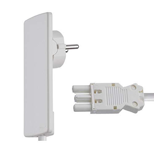 Schulte Elektrotechnik 151000152300 Steckbare Elektroinstallation Anschlusskabel 1,5 m mit GST 18 Buchse Weiß Weiß